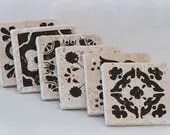 Set of 6 Natural Stone Co...