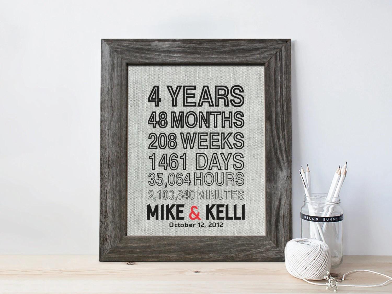 4th Anniversary Gift For Men Fourth Wedding Anniversary