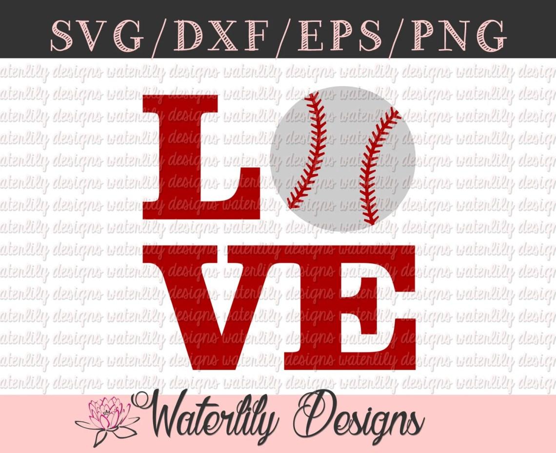 Download Love Baseball SVG/DXF Cut File Instant Download Vector