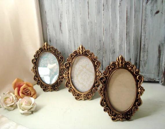 Oval Ornate Gold Vintage Style 4 X 6 Frame By