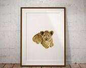 Lion Painting Art Print. ...