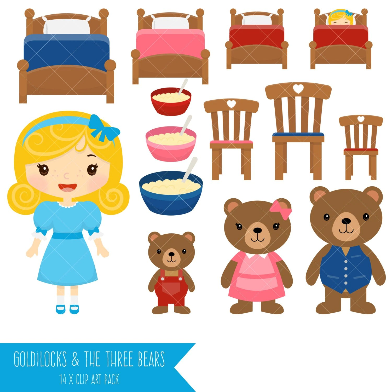 Goldilocks And The Three Bears Clipart From Clipartisan On