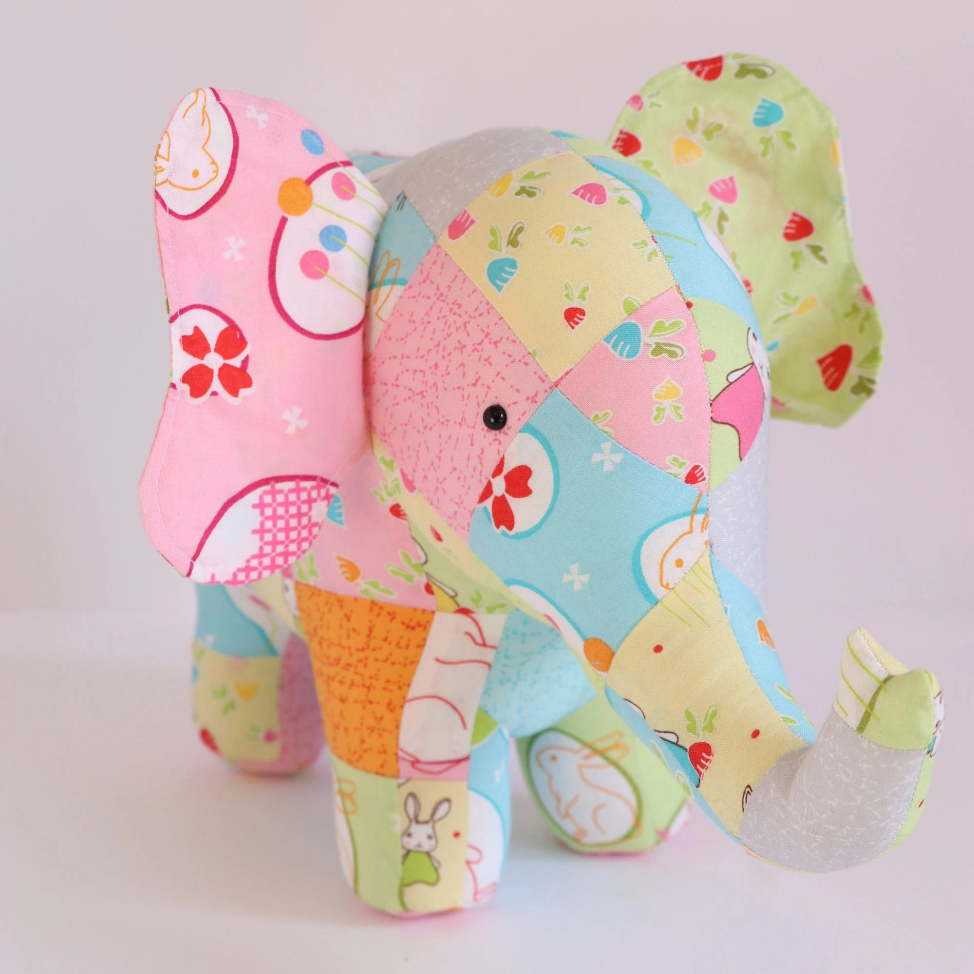 Trunk Show Elephant Sewing Pattern Patchwork Elephant