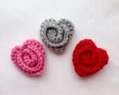 Crochet Heart Pin, Croche...