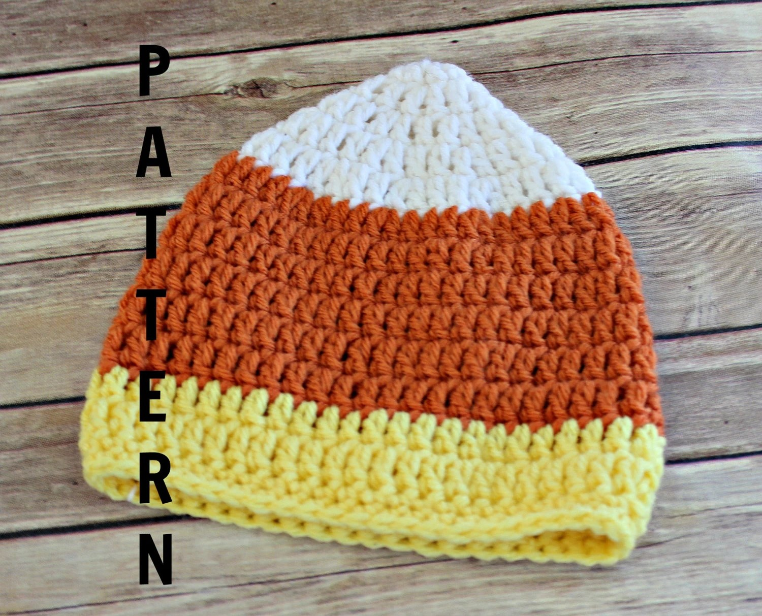 Candy Corn Hat Pattern Diy Crochet Baby Benie Pattern