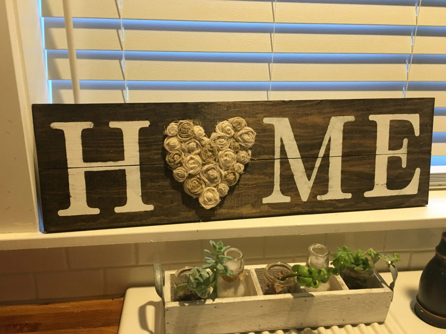 HOME sign Rustic wall decor LOVE sign Shabby Chic home on Home Wall Decor Signs id=76488