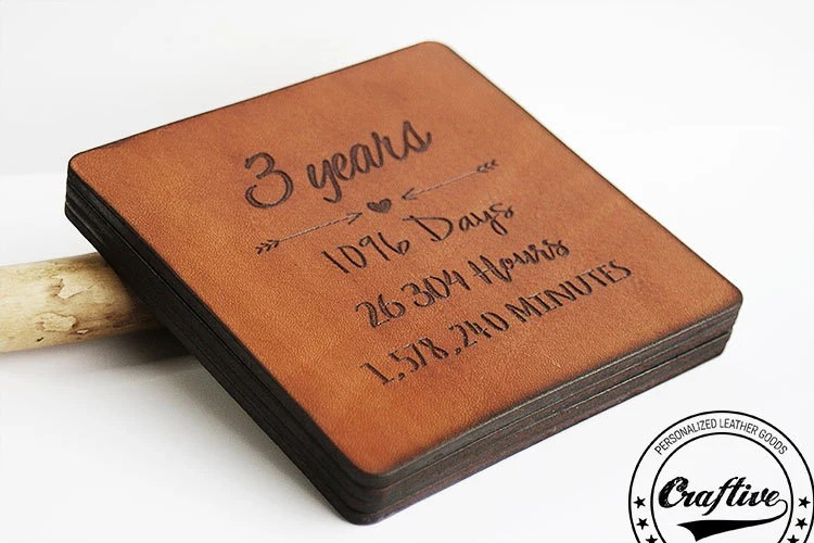 3rd Anniversary Gift Leather 3 Year Anniversary By
