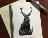Blitzen Buck Note Card - ...