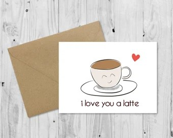 Download I love you a latte | Etsy