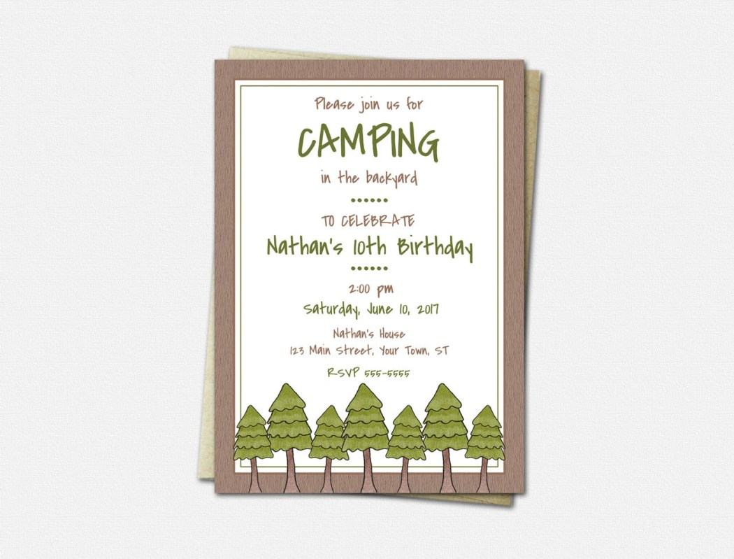 Camping Invitations - Bir...
