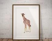 Giraffe Painting Art Prin...
