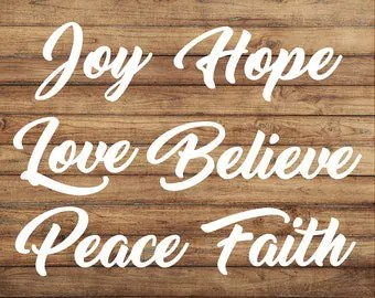 Download Peace love faith | Etsy