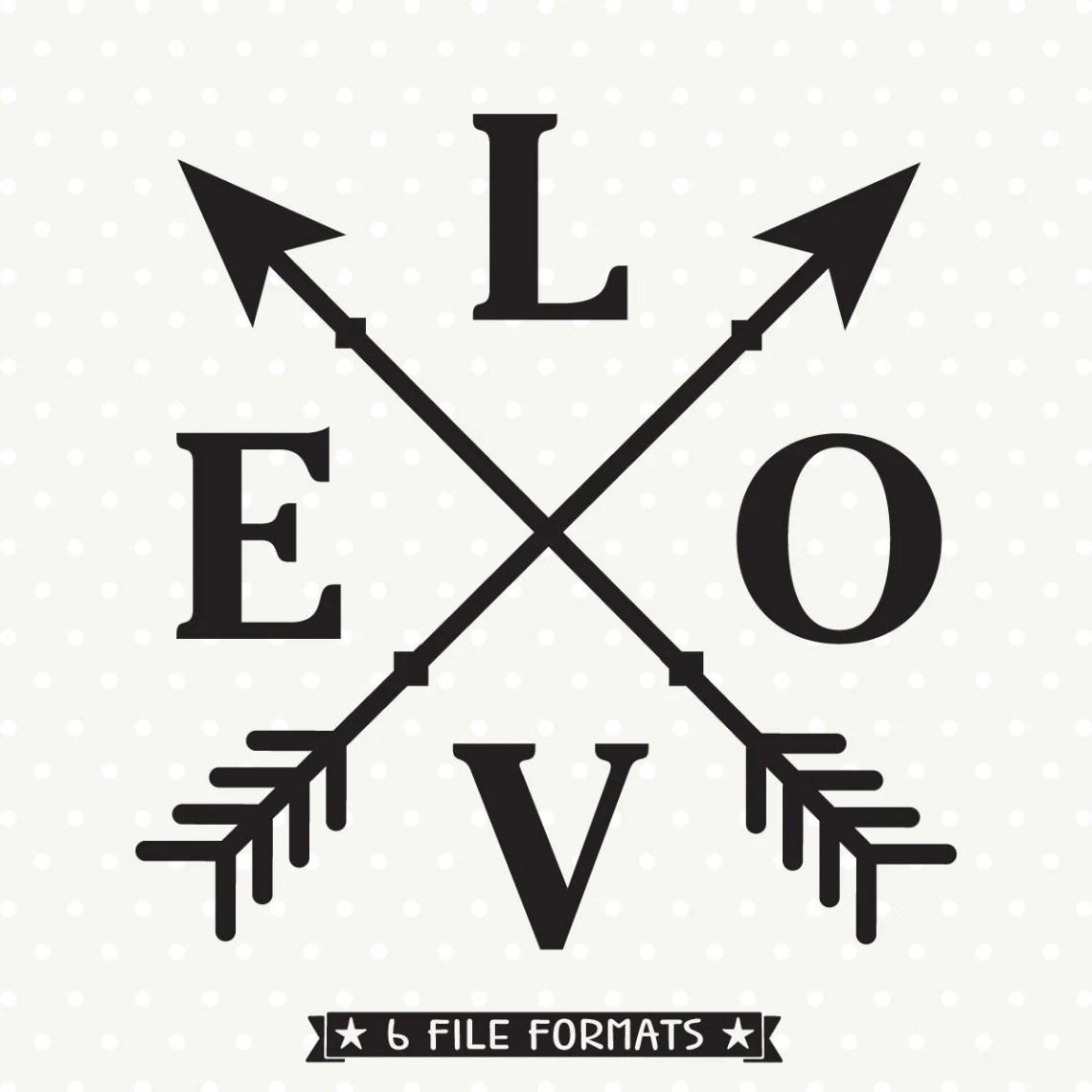 Download Love svg, Love Arrows SVG, Love cut file, Valentines Day ...