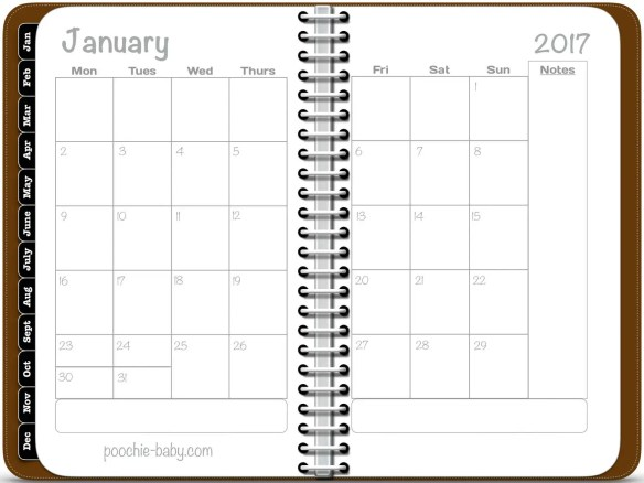 Digital Monthly Planner w...