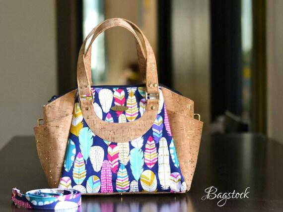 Cork Leather Handbag Cork Fabric Bag Fabric Handbags Travel