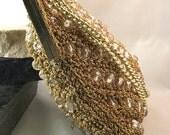Vintage Gold Beaded Clutc...
