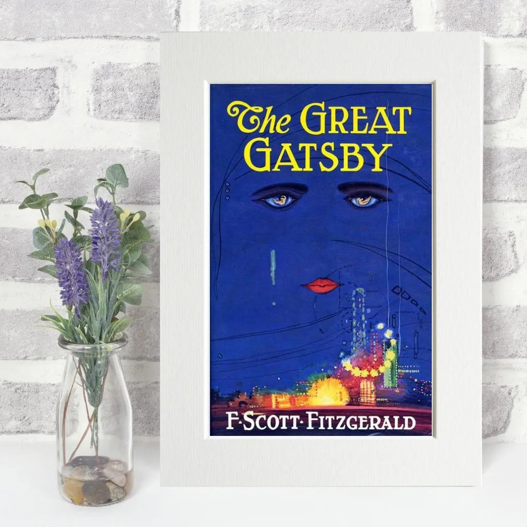 The Great Gatsby Print Original Book Cover A4 Framed Glossy