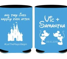Disney Wedding Can Coolers | Castle or Mickey Mouse Favor