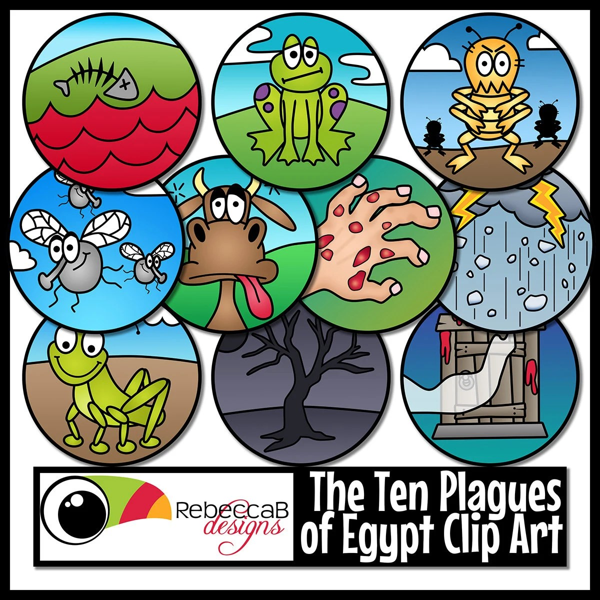 Ten Plagues Of Egypt Clip Art Moses Ten Plagues Clip