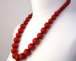 Image result for long red necklace