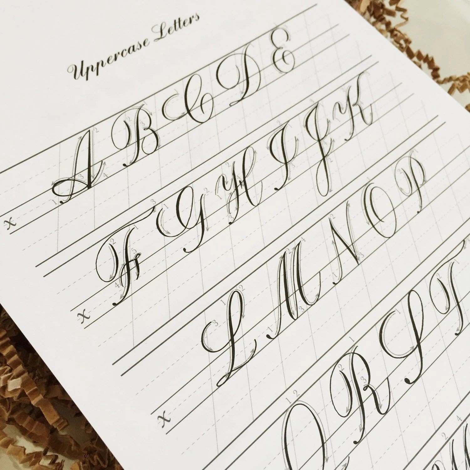 Copperplate Practice Pad Uppercase Letters