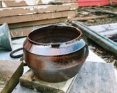 Black & Copper Toned Ston...