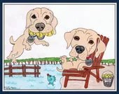 Dog Drawing Custom, Pet P...