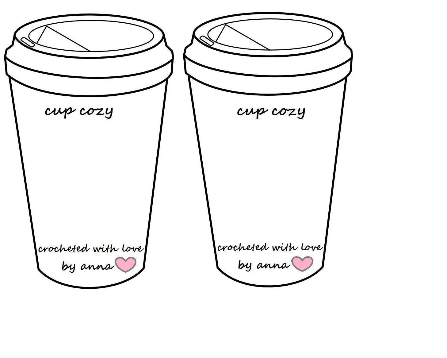 Crochet Coffee Cup Cozy To Go Cup Template Inserts