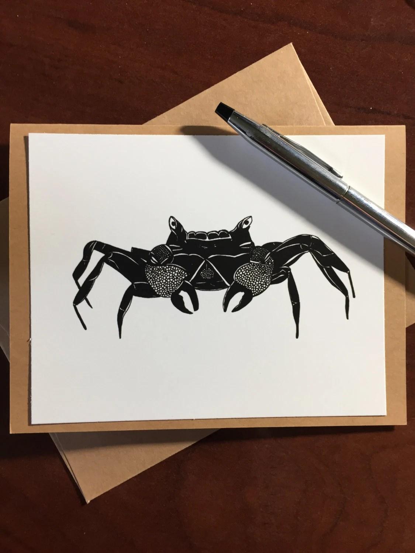 King Crab Note Card - Ori...