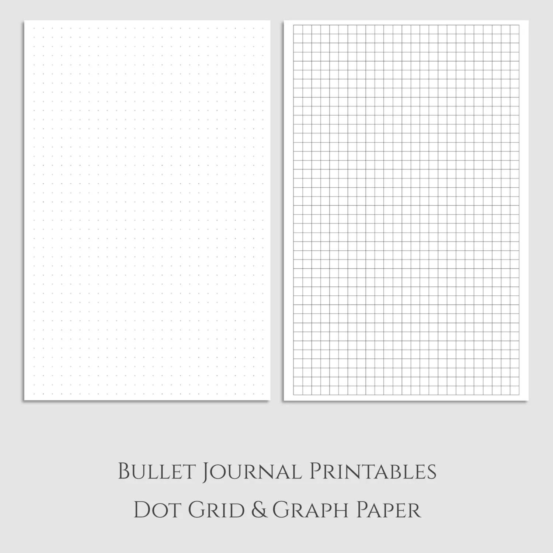 Bullet Journal Dot Grid And Graph Paper Printables Half