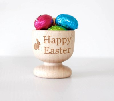 Happy Easter Wooden Egg Cup, Personalised Easter, Wooden Egg Cup, Easter Egg Cup, Easter Gift, Happy Easter, Wooden Egg Cup, Wooden Egg Cup