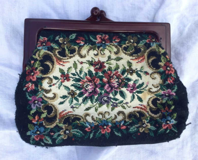Vintage tapestry coin pur...
