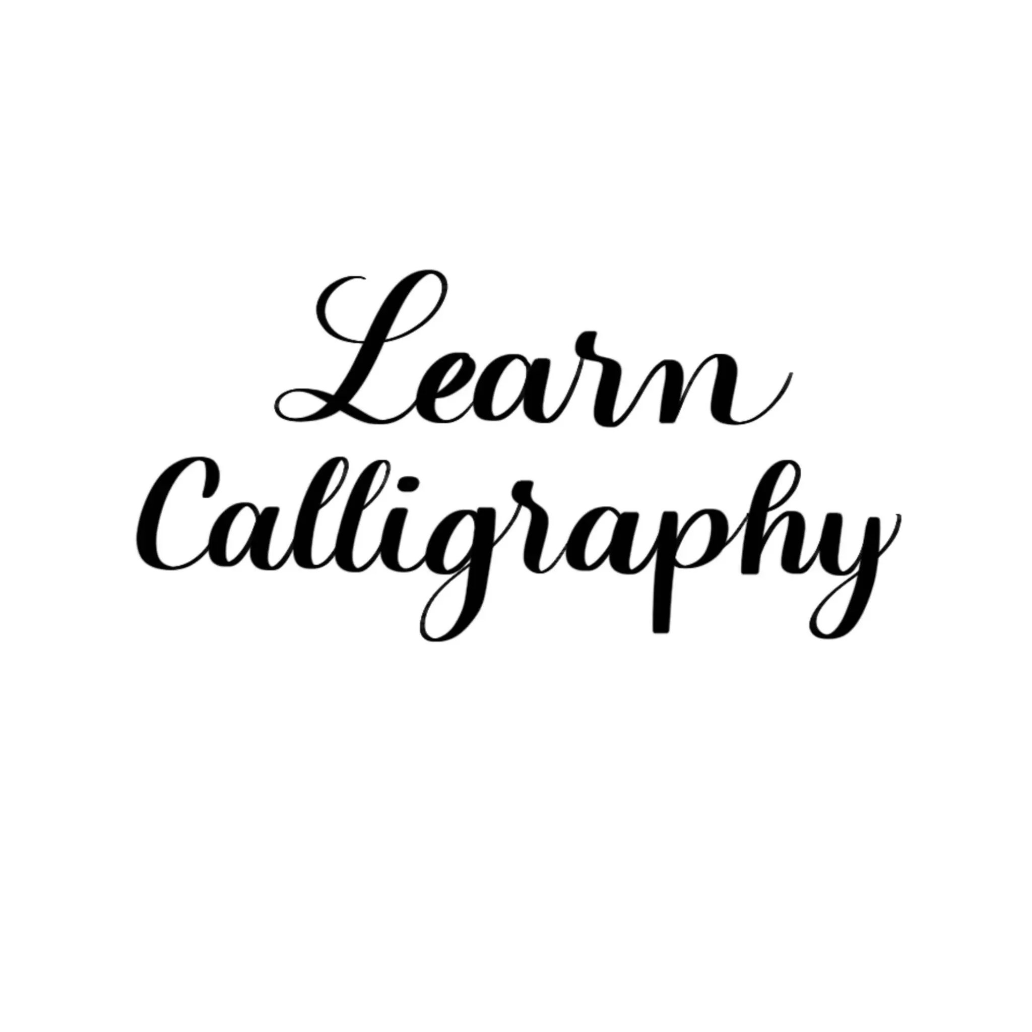 Traditional Calligraphy Workbook Printable Brush Lettering Workbook Calligraphy