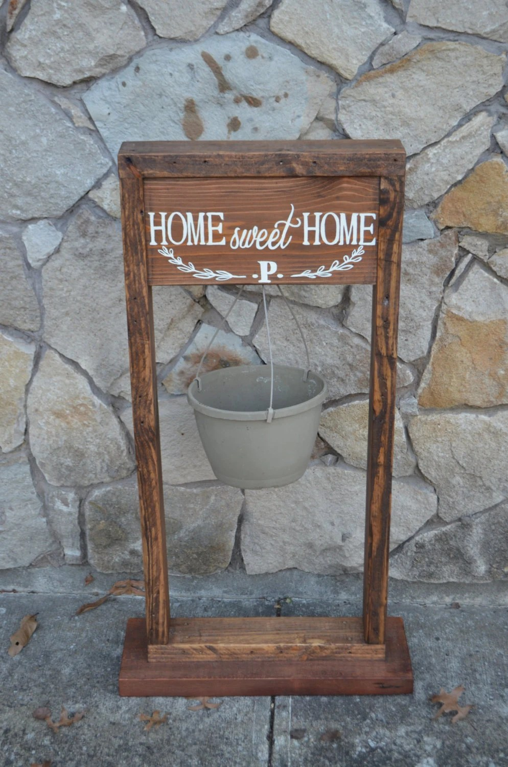 Plant stand. Hanging plant stand. Rustic hanging planter. Home on Plant Stand Hanging  id=69700