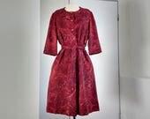 Vintage red dress, handma...
