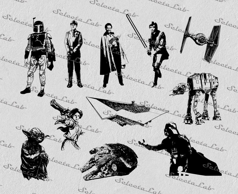 Digital Svg Empire Strike Back Darth Vader Yoda