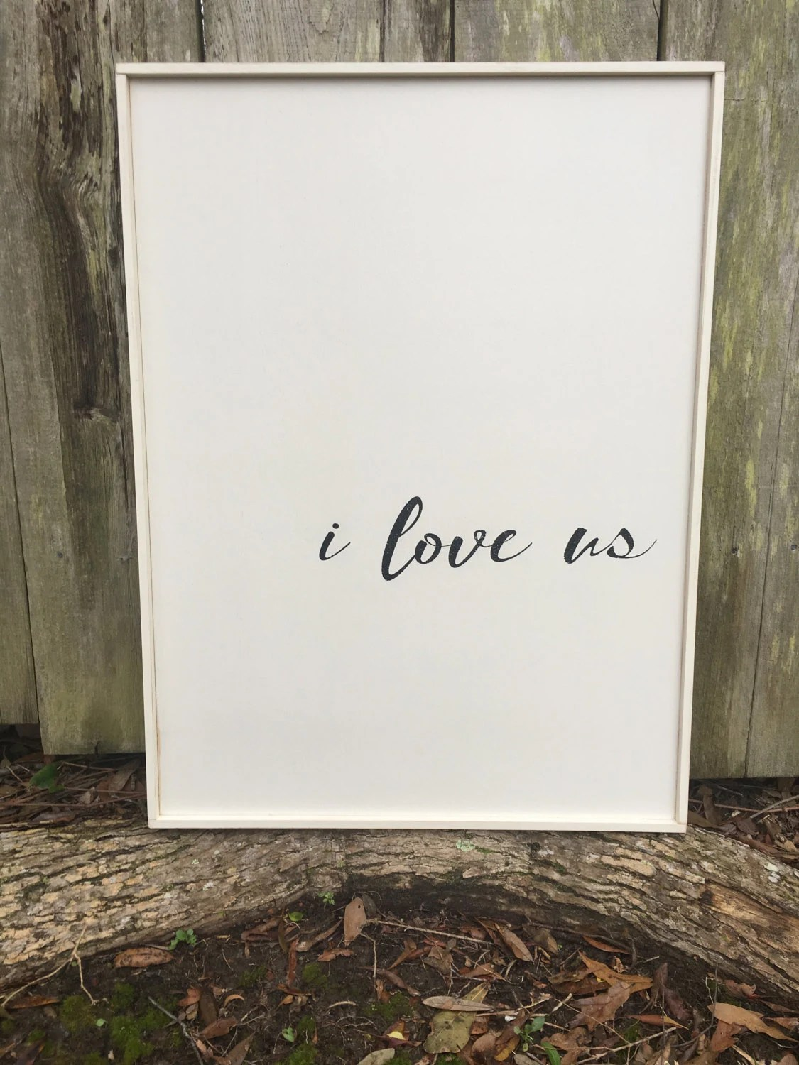 I Love Us Sign Fixer Upper Inspired Signs20x27 Rustic Wood