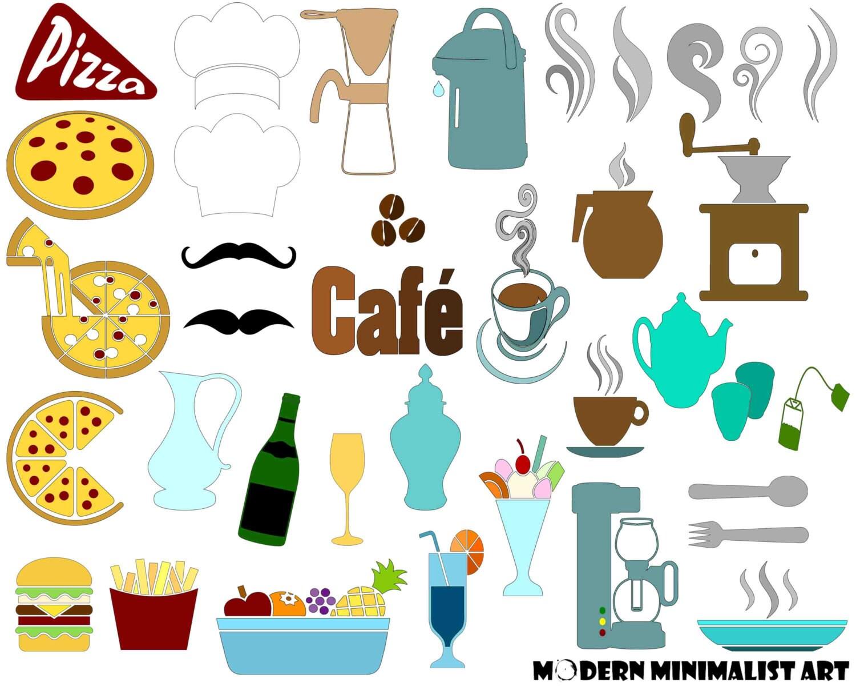 36 S Cafe Clip Art Kitchen Clipart Printable Cafe