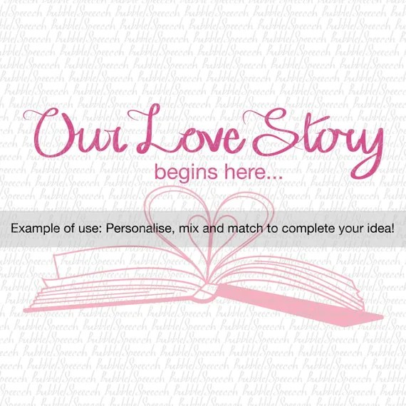 Download Our Love Story Book Svg Clip art, vector by SpeecchBubble ...
