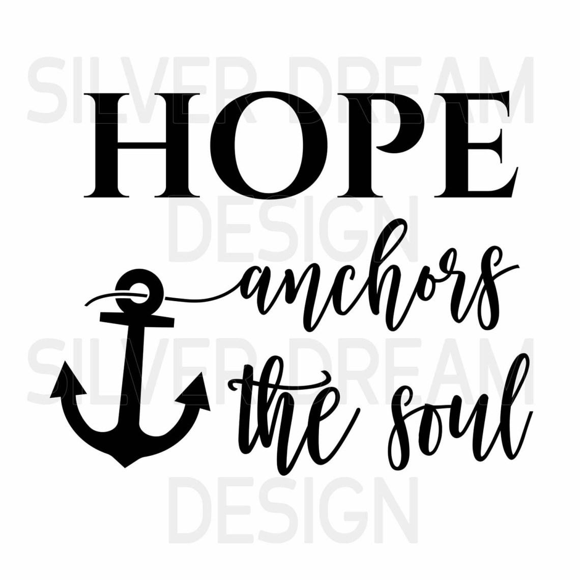 Download hope anchors the soul svg file, wood sign svg ...