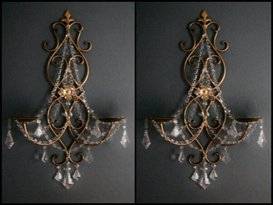 Items similar to Non-electric Boroque Style Shabby Couture ... on Non Electric Wall Sconces For Candles id=88444
