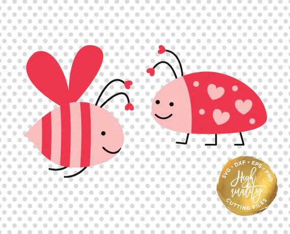 Download Love Bug SVG DXF Cutting File Valentine's Day Svg Dxf