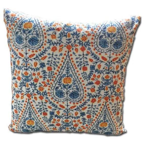 Decorative pillow cover in designer John Robshaw fabric 20x20