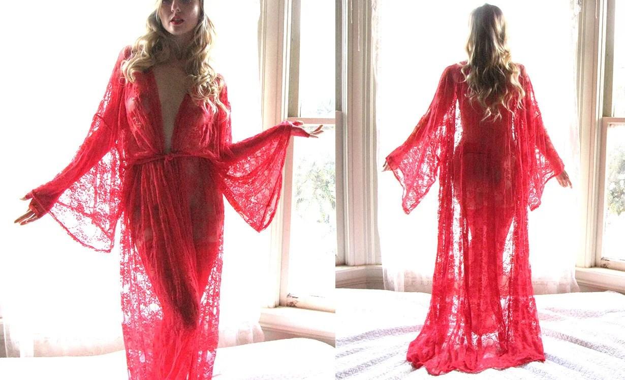 Lingerie Kimono Robe Kimono Robe See Through Lingerie