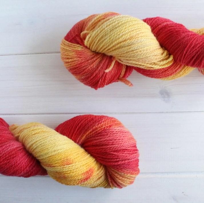 Hand dyed yarn Iron Man: ...