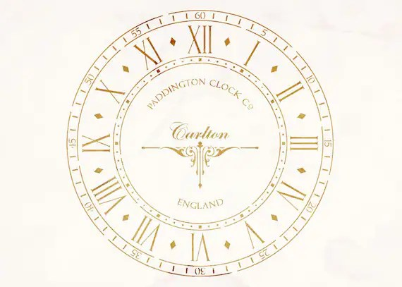 Shabby Chic, Wall, Furniture Stencil: Old Clock Face
