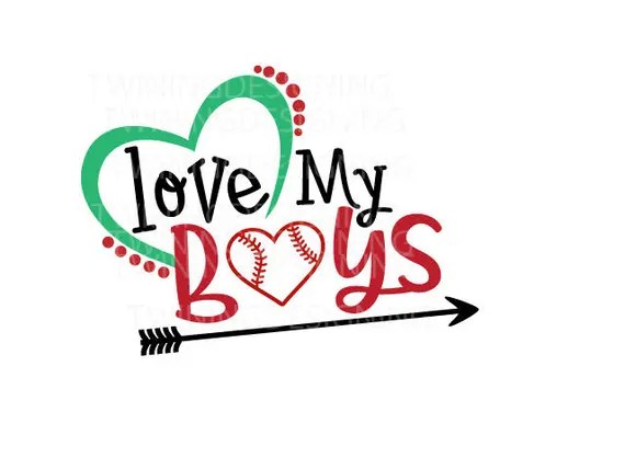 Download Love my boys cute Baseball SVG PNG DXF file from ...