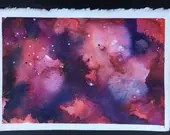 Red Galaxy 1 watercolor p...