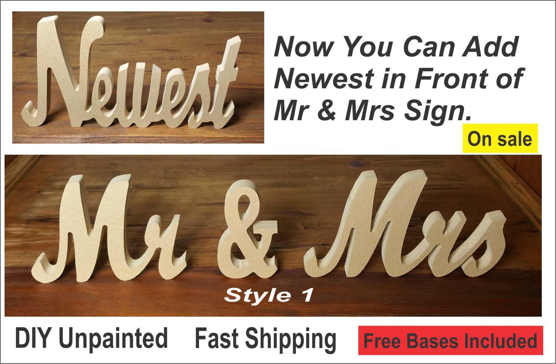 Mr And Mrs Sign DIY Mr & Mrs Sign