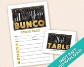 New Years Bunco - Printab...